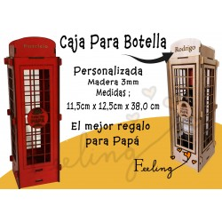 Caja tipo cabina telefónica...